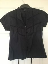 Dark Grey Shirt from H & M EUR Size 38 - UK approx Size 12