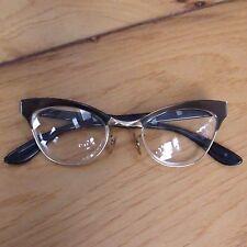 BAUSCH & LOMB Vtg Rx Eyeglasses Frames 1/10 12K GF Cat Eye Horn Rimmed 50s 60s
