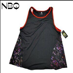 C9 Champion Sleeveless Running Shirt Black Purple Womens Size Large