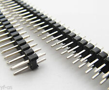 200pcs Double Row 2x 40pin Male 2.54mm Pitch Flat PCB Panel Breakable Pin Header