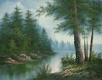 "16""x 20"" Oil Painting on Canvas, Lakeland Landscape, Genuine Hand Painted"