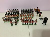 Vintage LOT 63pc Toy Soldiers Britains, Steadfast, Ducal Military Figures