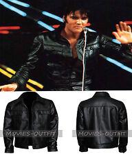 Elvis Presley Men's Fashion Black Slimfit Leather Jacket Outfit Casual Wear