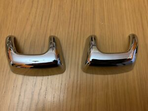 CHROME HEADLAMP JET WASHER BUMPER COVERS FITS RANGE ROVER SPORT DISCOVERY 3