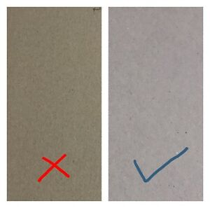 10 & 5 Greyboard Thick Card 1500 microns 1.5mm grey board backing modelling