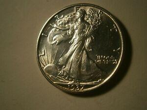 1937 S WALKING LIBERTY HALF DOLLAR    MS