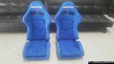 Bride Stradia II Style - XL SIZE FRP BLUE Racing Seat Bride Center Writing