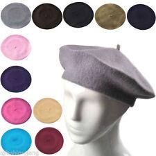 Chapeaux bérets pour femme en 100% laine