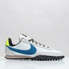 Nike Waffle Racer Para Hombre Blanco Verde Azul Amarillo entrenador de todos los tamaños de zapatos