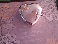 Heart jewelry box in Japanese silver