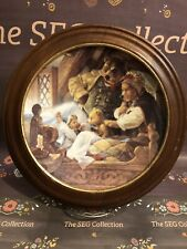 """Goldilocks & The Three Bears"" Collector Plate in Wood Wall Frame #11264 B, 1991"