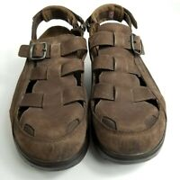 MBT Gil Gil Brown Rocker Bottom Sandals Men's 10.5 in Pristine Used Condition