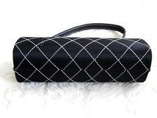 BLACK & WHITE Stitch controllo rigido hard case Vanità Scatola borsa frizione borsa borsetta N