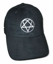 HIM H.I.M. Silver Heartagram Black Cap New Official Finnish Rock Band Hat