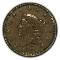 1834 1c Coronet Head Large Cent SKU-Z1070