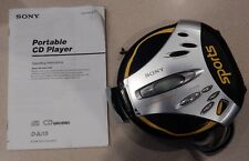 Sony D-Sj15 Cd Player - Sports Walkman Broken Not Working - For Parts