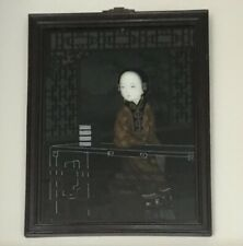 More details for antique chinese reverse glass painting