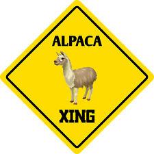 """*Aluminum* Alpaca Crossing Funny Metal Novelty Sign 12""""x12"""""""