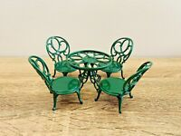 Sylvanian Families Green Ornate Garden Table & Chairs Furniture Set