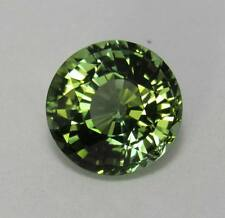 Natural Green Tourmaline 4.88 ct. Round Bright Medium Green 10.5 mm
