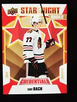 Kirby Dach - 2019-20 Credentials Star of the Night ROOKIE Chicago Blackhawks