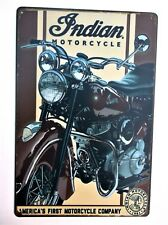 INDIAN MOTORCYCLE (44)  METAL TIN SIGNS vintage cafe pub bar garage decor chic