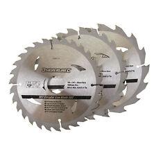 Silverline TCT Circular Saw Blades 3pk 165 X 30 - 20 16 10mm Rings