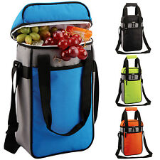 GEEZY Insulated Bottle Drinks Cool Bag Zip Up Ice Wine Cooler Carrier Lunch Box