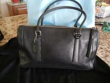 Coach Bonnie's Legacy Black Leather Tote, Carry All, Satchel. Hand Bag KOP-9420