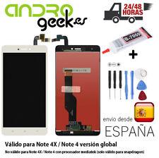 Pantalla LCD +TÁCTIL Xiaomi Redmi Note 4X/NOTE 4 Global Snapdragon Blanca.24/48H