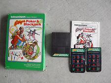 Vintage 1979 Mattel Intellivision Las Vegas Poker & Blackjack Video Game in Box