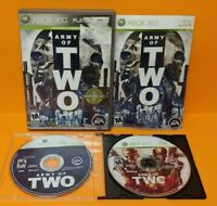Army of 2 + 40th Day  - Microsoft Xbox 360 Game Lot - Tested Works