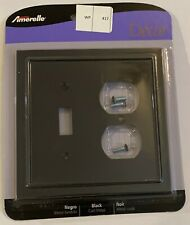 Amerelle Bethany 2 Gang 1-Toggle and 1-Duplex Metal Wall Plate - Black