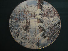 Country Christmas 1989 Collector Plate Lowell Davis Rabbit Wren Schmid Rare