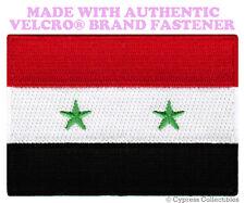 SYRIAN FLAG PATCH SYRIA ARAB REPUBLIC EMBROIDERED ARAB w/ VELCRO® Brand Fastener