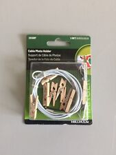 Hillman Cable Photo Holder with Wood Clothes Pins (Holds 8 Photos)
