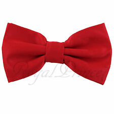 Classic New Red Men's Pre-tied Bowtie Bow tie wedding Party Prom