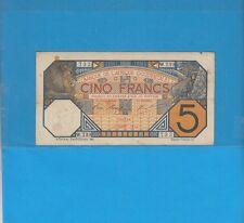 Banque de l'Afrique Occidentale Sénégal 5 francs DAKAR du 10 Juillet 1919