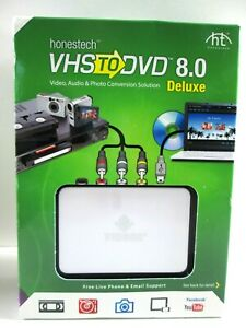 HONESTECH VHS TO DVD 8.0 Deluxe Converter Video Audio Photo Convertion Solution