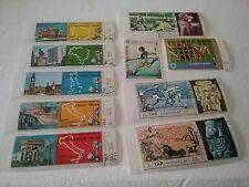 Lot de 10 timbres Coupe du monde football .jeux olympiques