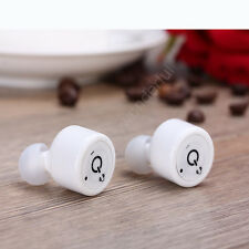 Mini True Wireless Bluetooth Twins Stereo In-Ear Earbuds Headset Earphone  Beige