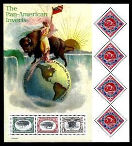 1¢ WONDER'S ~ 2000 MNH SOUVENIR SHEET W/ THE PAN AMERICAN INVERTS ~ S15