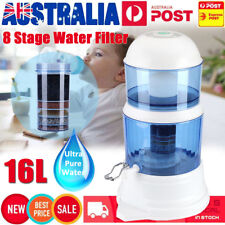 8 Stage Water Filter Benchtop Dispenser Filter System Purifier 16L Home Drinking