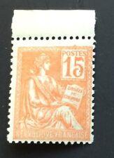 France N° 117 15 C Orange Neuf ** TTB Qualité Timbre Plus Grand Cote35€ +