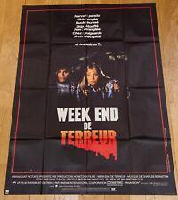 WEEK-END DE TERREUR Affiche cinéma 120x160 FRED WALTON, FOREMAN - HORREUR