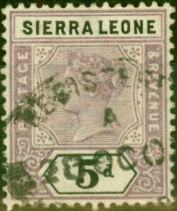 Sierra Leone 1897 5d Dull Mauve & Black SG48 Fine Used
