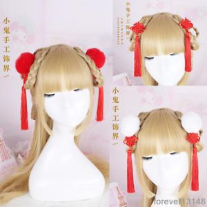 Chinese Style Tassel Hair Pin Red Lolita Hair Accessories Japanese Kawaii Gothic