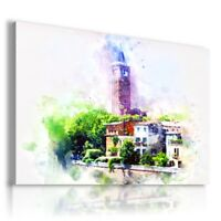 PAINTING DRAWING HOUSE CASTLE COTTAGE  PRINT Canvas Wall Art R192 MATAGA