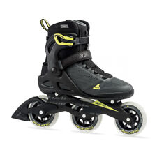Rollerblade 100 3WD Men's Adult Inline Skate Size 13, Black/Yellow (For Parts)