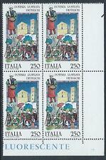 1985 ITALIA FOLCLORE POTENZA LA SFILATA DEI TURCHI QUARTINA MNH ** - C0